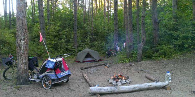 radteise kinder ausruestung camping
